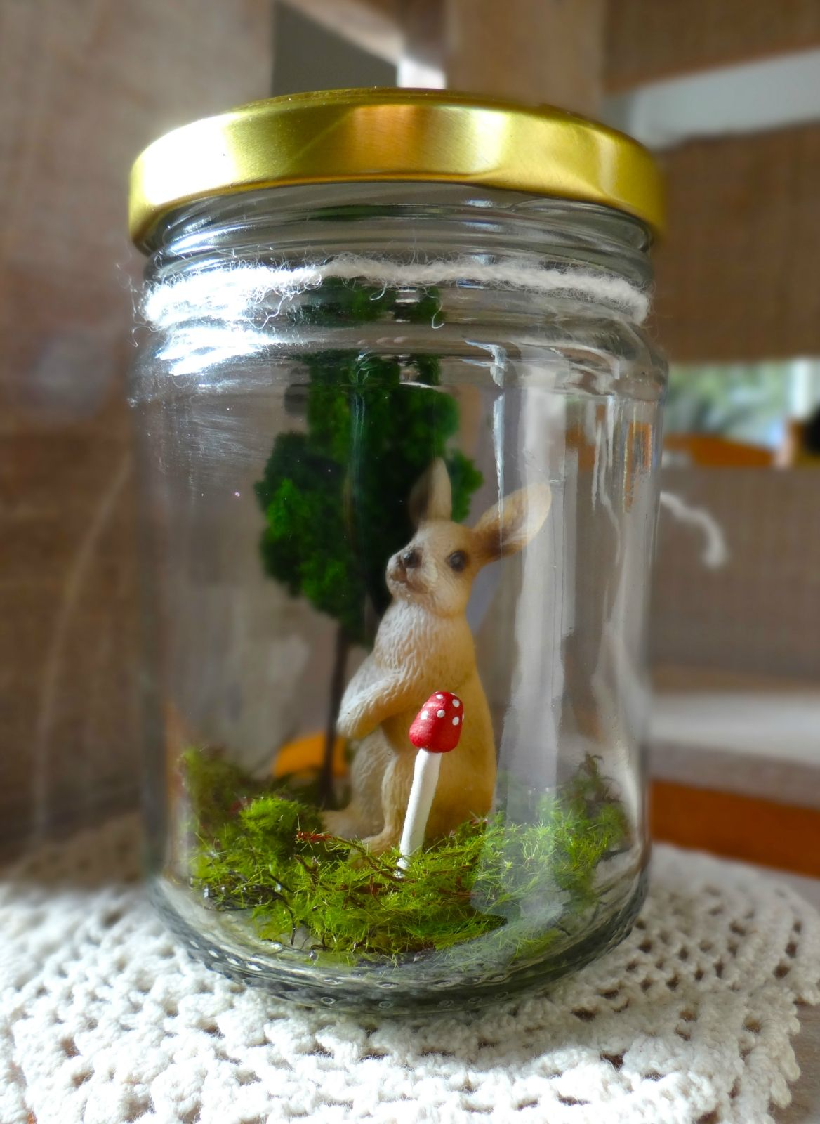 Rabbit in a Jar | Felt