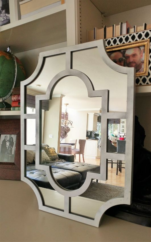 How I Saved Hundreds Of Dollars On Wall Mirrors Mirror Wall Living Room Lighted Wall Mirror Mirror Wall #silver #mirrors #living #room