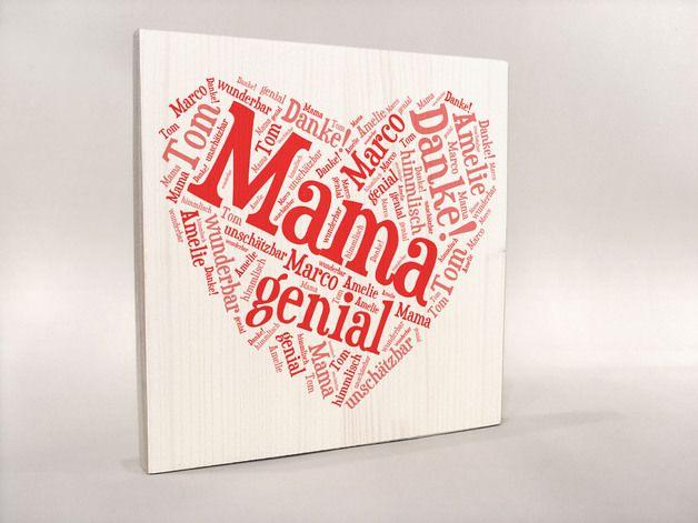 mama ist die beste diese herz mit deiner pers nlichen botschaft ist die perfekte geschenkidee. Black Bedroom Furniture Sets. Home Design Ideas