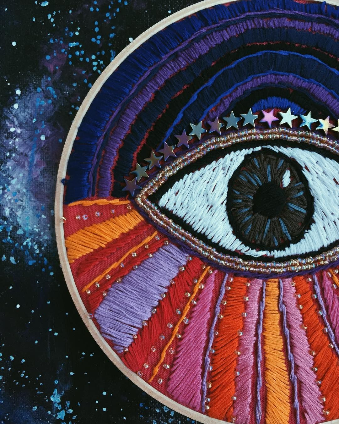 embroidered eye by tessa perlow   EMBROIDERY   Pinterest ...