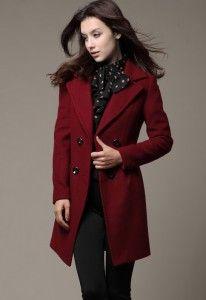 db893edad86 Abrigos en color vino 5 | Outfits en 2019 | Abrigos, Abrigos rojos y ...