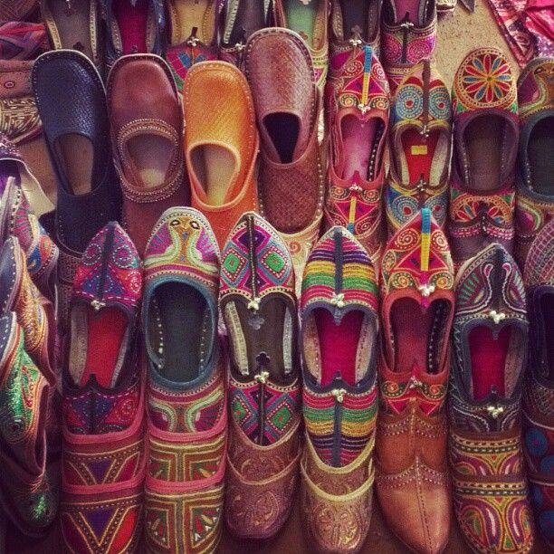 Indian Handicrafts Shoes Chappals Rajasthan Incredible India