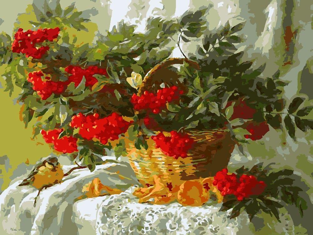 40x50 cm cesta de frutas cuadro sin marco en la pared de acrílico ...