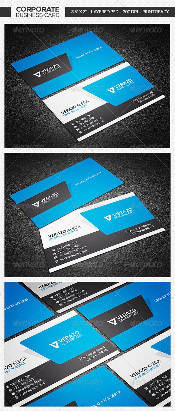 Modern Business Card PSD Print Templates| Print Ready | Buy and ...