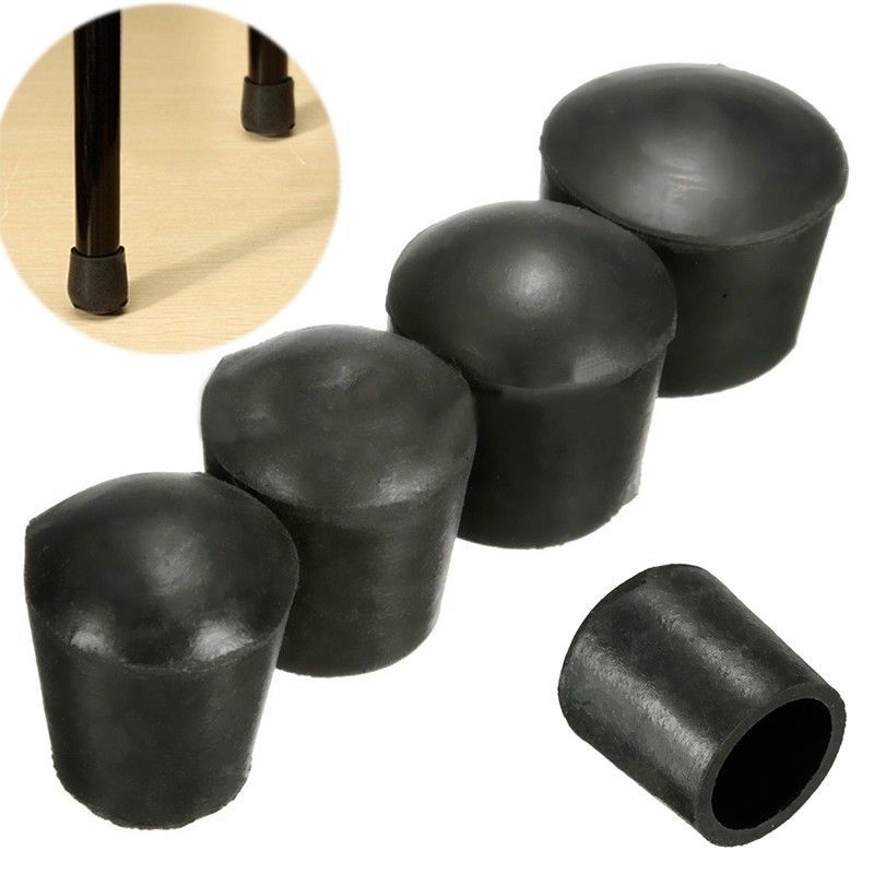 4pcs Pe Plastic Round Chair Leg Caps, Rubber Feet For Furniture Legs
