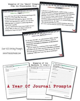 Journal Writing Prompts Bell Ringers for a Full Year
