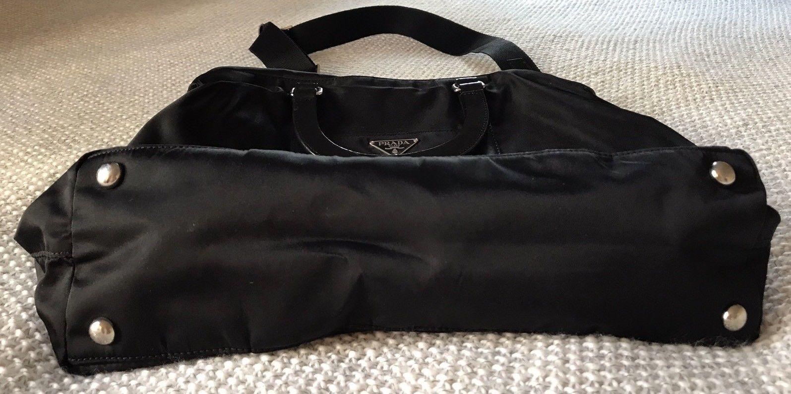 bb3ca02d54a1 ... usa preowned authentic prada nylon zip shoulder handbag bag 2 way bn  1057 319.0 6f070 3e181 ...