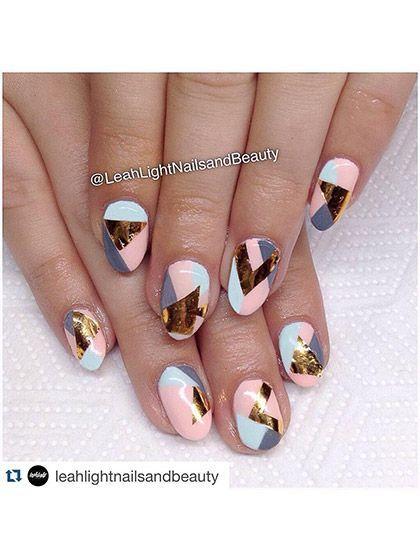 25 Chic Nail-Art Ideas for Summer - 25 Chic Nail-Art Ideas For Summer Short Nails, Short Nails Art