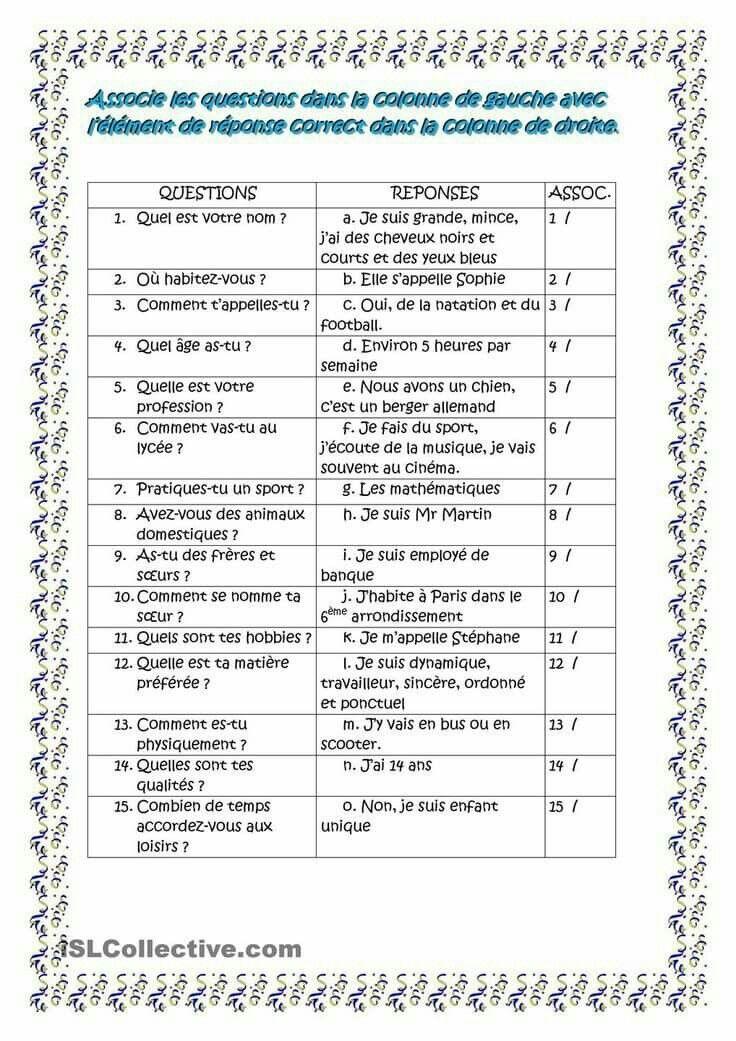 Pin Di Stefania Di Su Francais Grammatica Francese Istruzione Pagine Di Esercizi