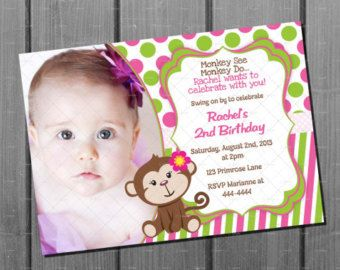 Pink girl monkey birthday invitation and by cuddlebuginvitations pink girl monkey birthday invitation and by cuddlebuginvitations filmwisefo Choice Image
