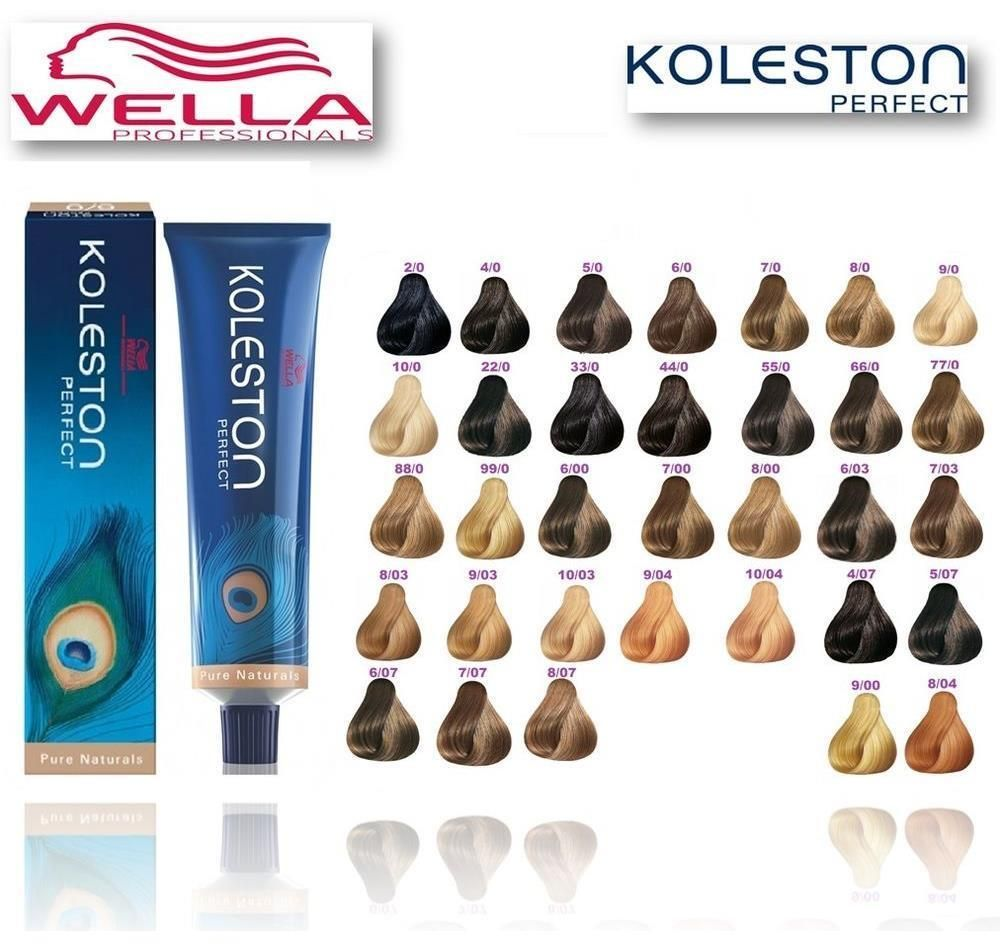 Wella Koleston Perfect Me 60ml Pure Naturals Range Permanent Colour Dye Ebay Wella Hair Color Chart Wella Hair Color Hair Color Chart