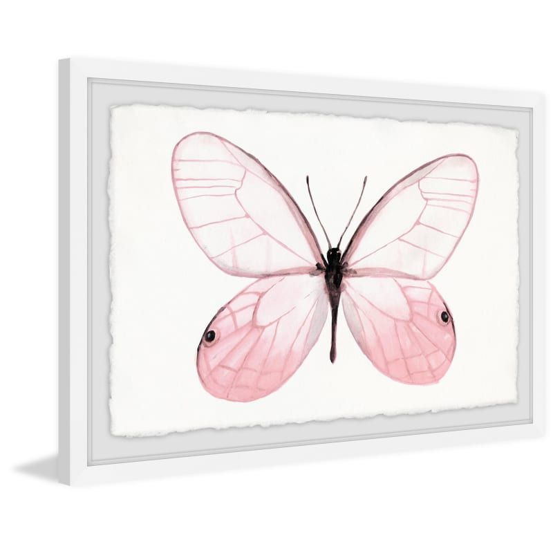 Marmont Hill Mh Julinsc 58 Wfpfl 30 20 Inch X 30 Inch Pink Butterfly Beauty Fr Pink Home Decor Wall Decor Pai Giclee Painting Painting Frames Pink Home Decor