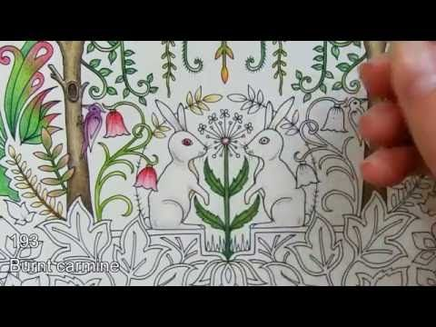 Marco Raffine pencils. Colouring in Enchanted Forest | A flower - YouTube