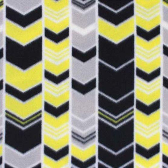Blizzard Fleece Fabric- Yellow Gray Black Arrows Joann
