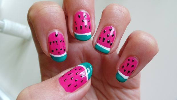 Picture of Nail Art Design: Watermelons - Nail Art Design: Watermelons Watermelon Nails, Watermelon Nail