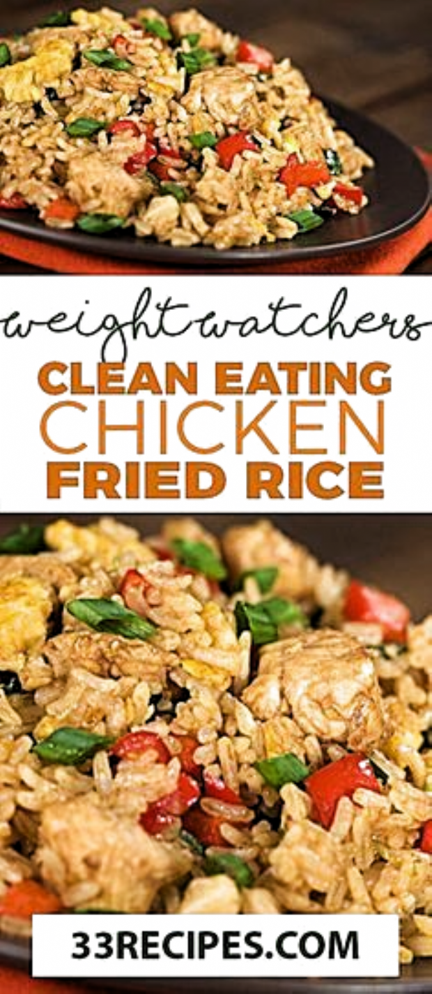 Weight Watchers Fried Rice #weightwatchers #weight_watchers #Fried_Rice #Chicken #recipes #smartpoints #heartHealthyRecipes