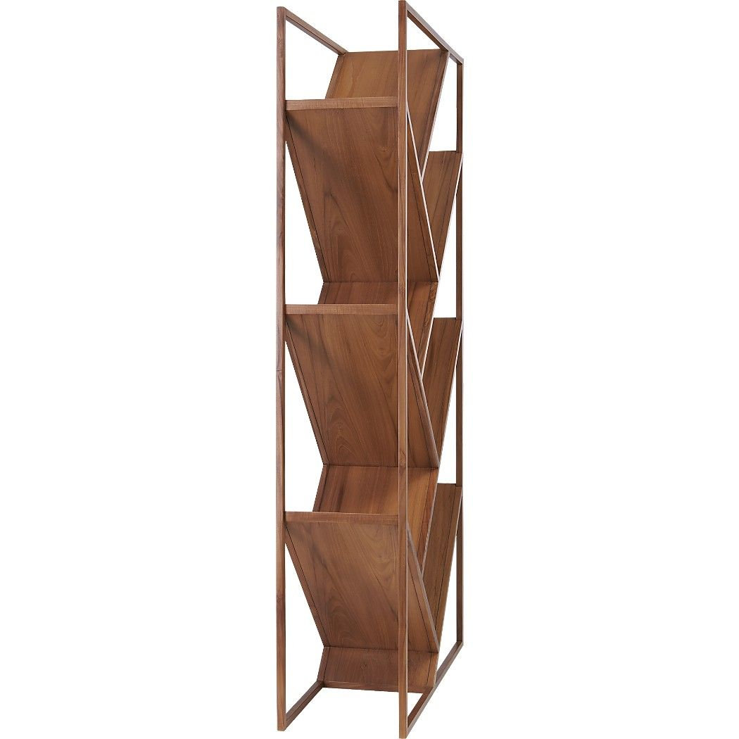 Shop v bookcase-room divider. Miron Lioru0027s inventive design angles to add  interest to any size space. Open solid-teak frame