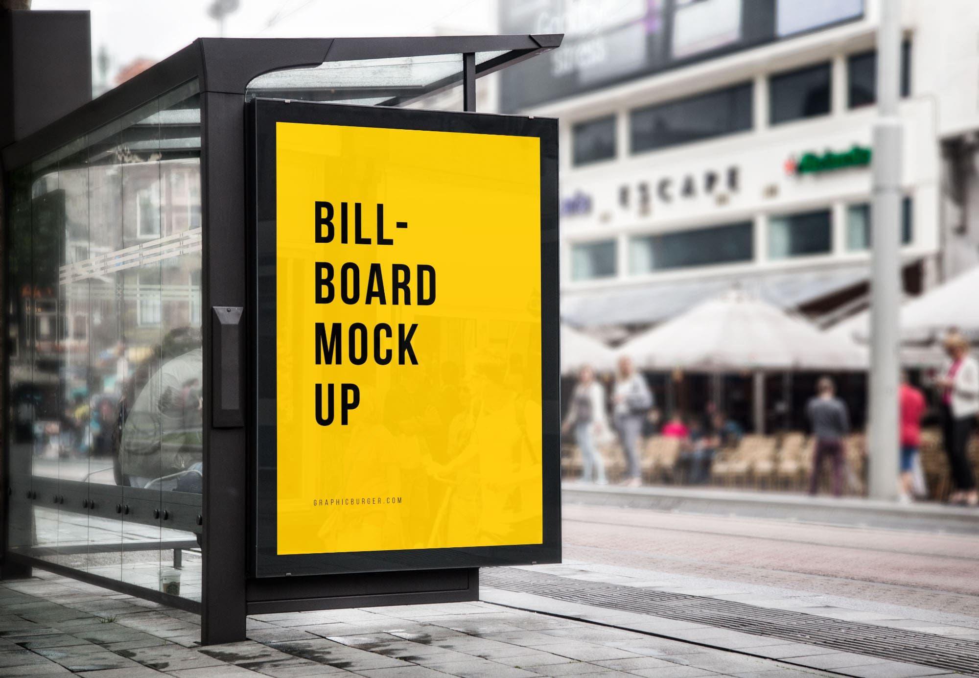 Bus Stop Billboard Free Mockup Psd Billboard Mockup Mockup Free Psd Billboard