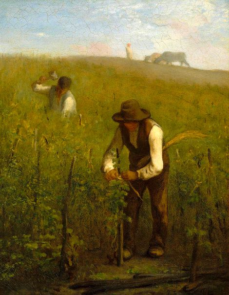 Jean Francois Millet In The Vineyard 1852 53 On Artstack
