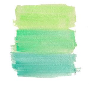 Aqua Ombre Watercolor Art Print Dip Dyed Art Green ...