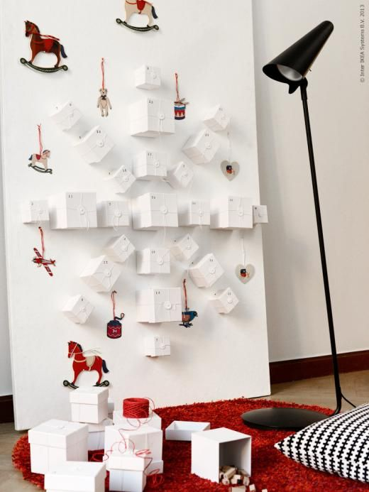 diy advent calendar advent calendars pinterest decoration noel avent et deco noel. Black Bedroom Furniture Sets. Home Design Ideas