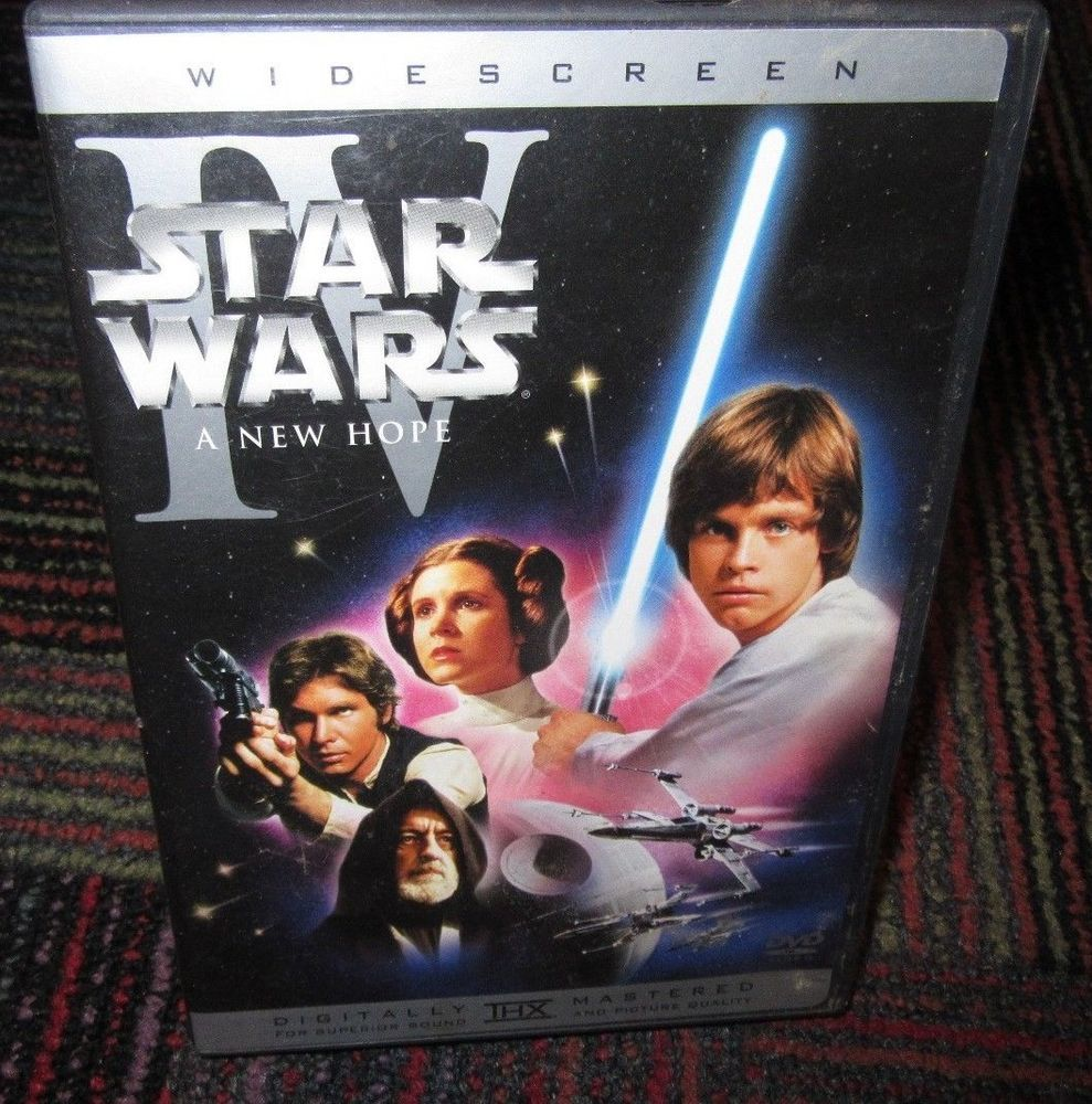 Star Wars Iv A New Hope Dvd Movie Episode Iv Widescreen Film