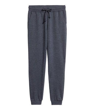rico y magnífico diseñador nuevo y usado primera vista Pantalón de chándal | Azul oscuro | Mujer | H&M MX ...