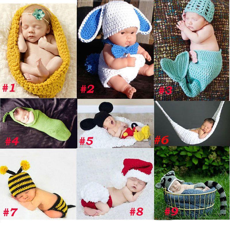 赤ちゃん新生児写真撮影の小道具衣装幼児動物ビーニーでおむつカバー繭 ...