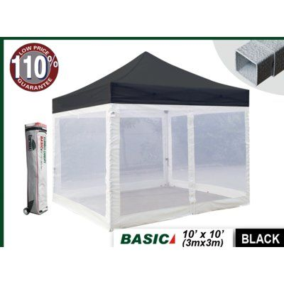 Eurmax Standard Ez Pop up Canopy with Four Screen Walls and Wheeled Bag Bonus Ground Mat ** Check out this great image  Hiking tents  sc 1 st  Pinterest & Eurmax Commercial 10 Ft. W x 10 Ft. D Steel Pop-Up Canopy with ...