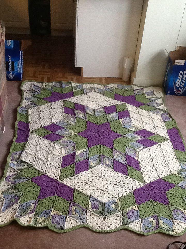 Crochet Quilt on Pinterest Afghan Crochet Patterns ...