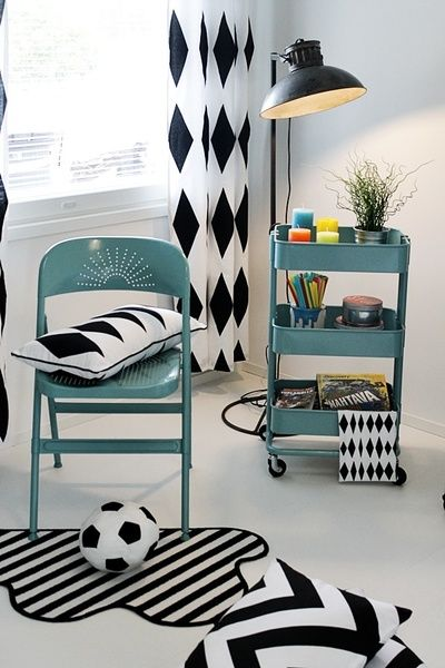 salmiakkikuvio,turkoosi,lastenhuone,värikäs,mustavalkoinen
