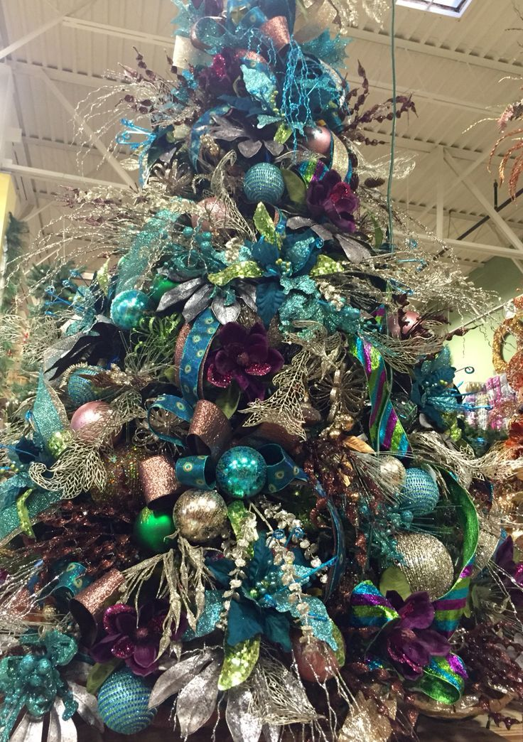 #Teal blue and brown chocolate #Christmas tree. Designed ...
