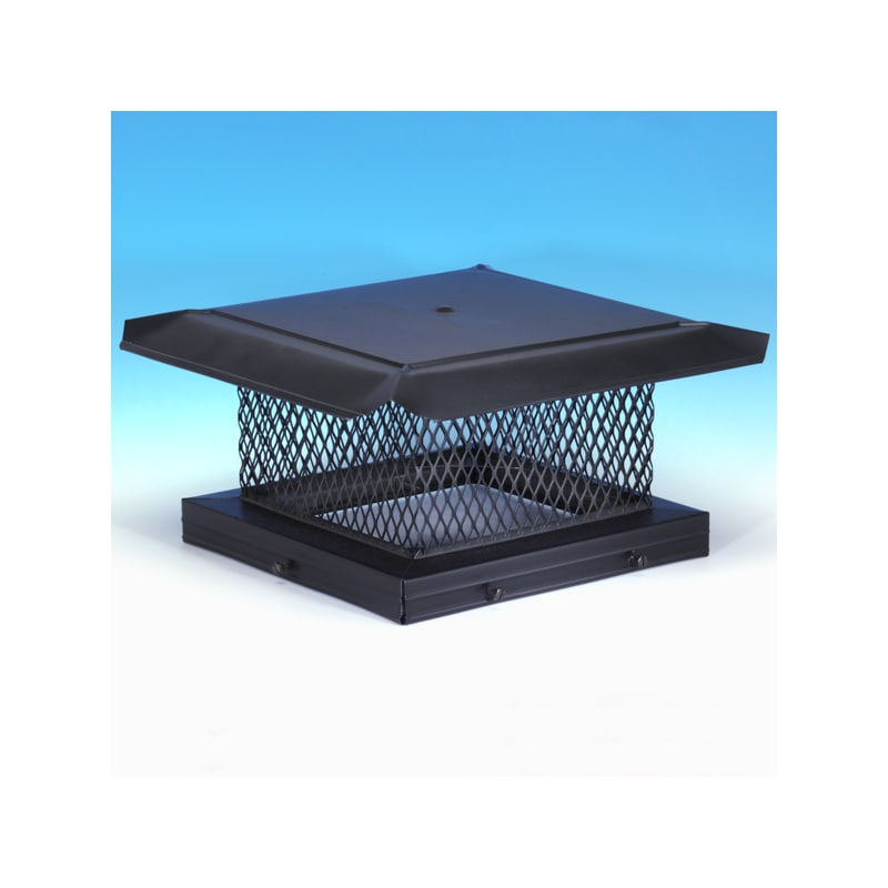 Homesaver 14717 13 X 21 Black Galvanized Chimney Cap With 5 8 Mesh From The P Black Vent Pipe Chimn Chimney Cap Fireplace Accessories Installing A Fireplace