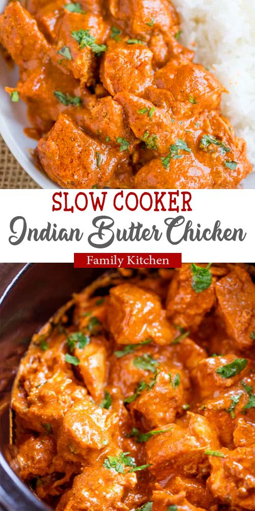 Slow Cooker Indian Butter Chicken recipe!! So Delicious!!!  #slowcookerrecipes