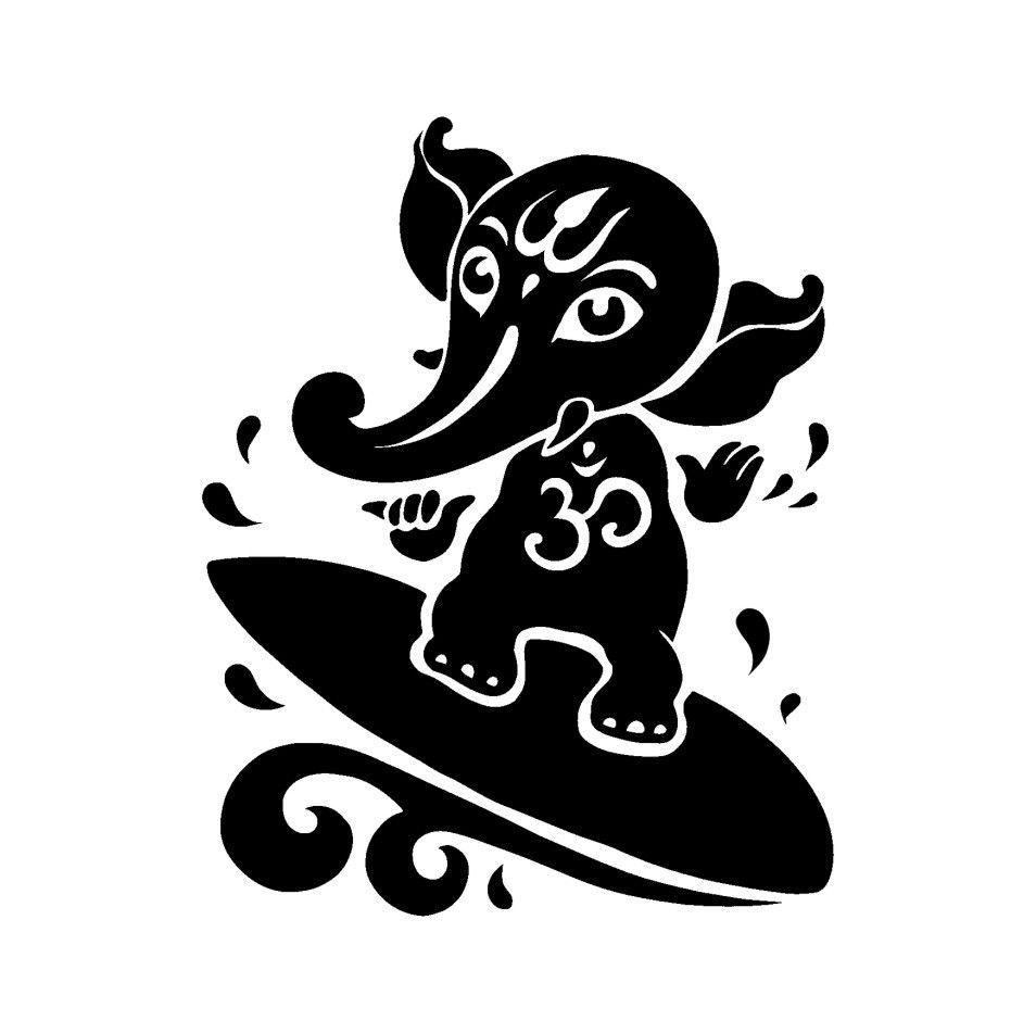 Ganesh god silhouette hindu religious car truck window wall ganesh god silhouette hindu religious car truck window wall sticker decal 2264 unbranded artscraftsmissionstyle buycottarizona