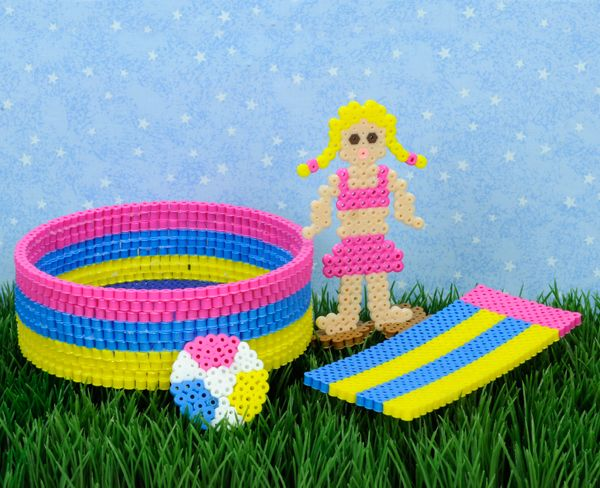 create a playtime swimming pool set using perler beads it s fun create a playtime swimming pool set using perler beads it s fun time out the sun