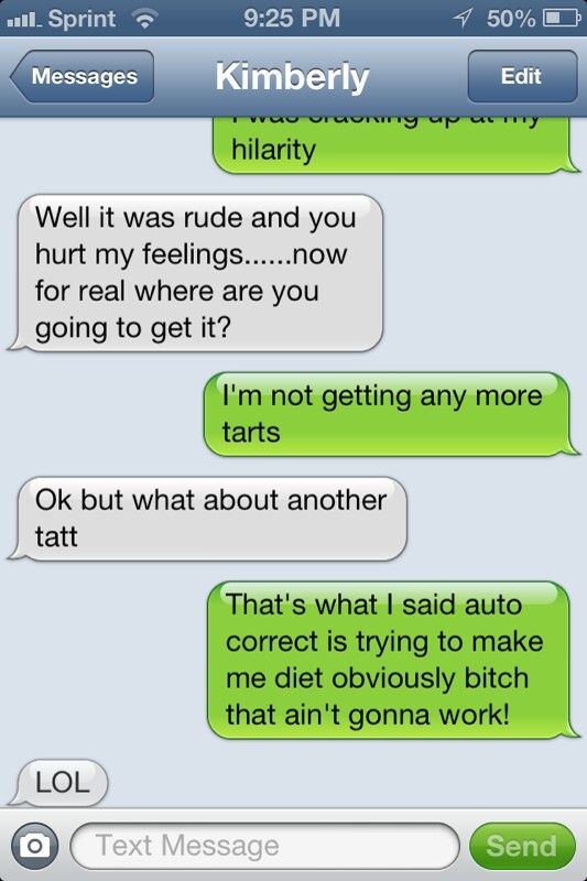 Auto correct issues, lol
