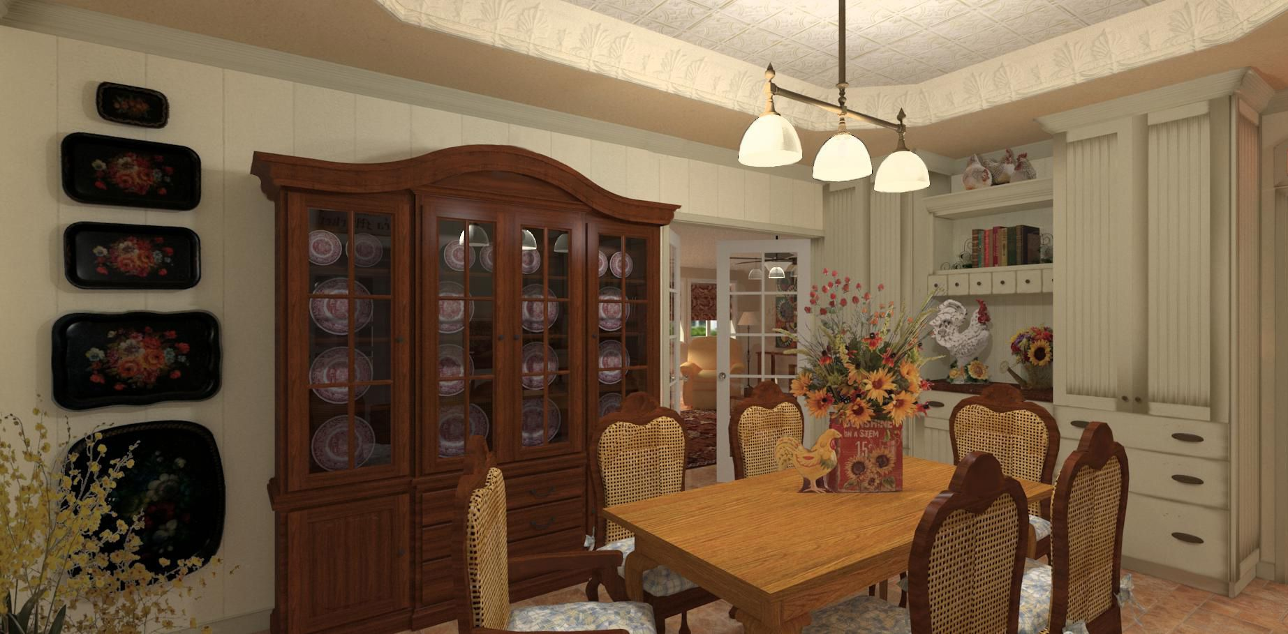 This Dining Room Is In The Center Of, House Has No Dining Room