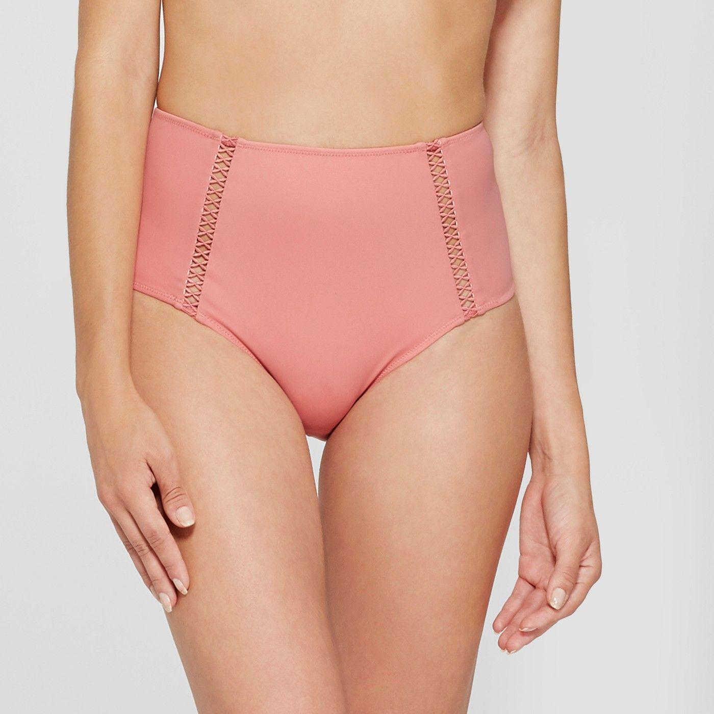 75ab20d780e7d Women s Beach High Waist Crochet Trim Bikini Bottom - Shade ...