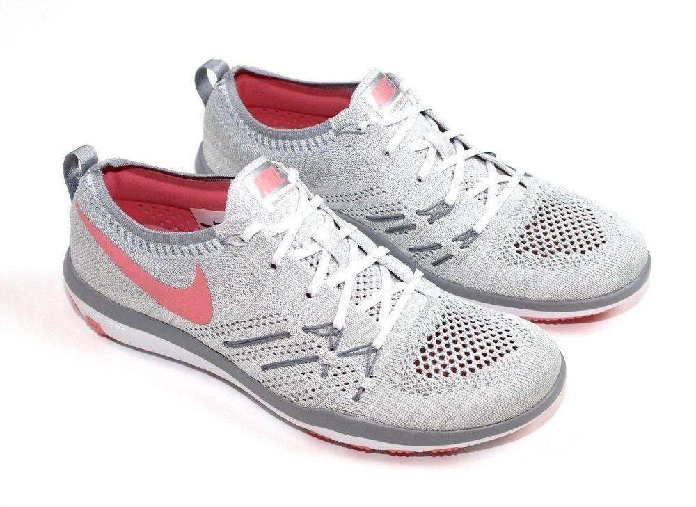 e7d74211f67e0 Nike Free TR Focus Flyknit White Bright Melon Wolf Grey 844817 108 Wmn Sz 6   Nike  RunningCrossTraining