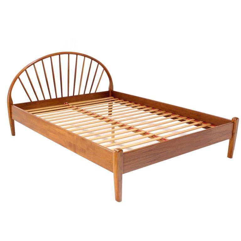 Best Danish Mid Century Modern Solid Teak Queen Bed Frame 400 x 300