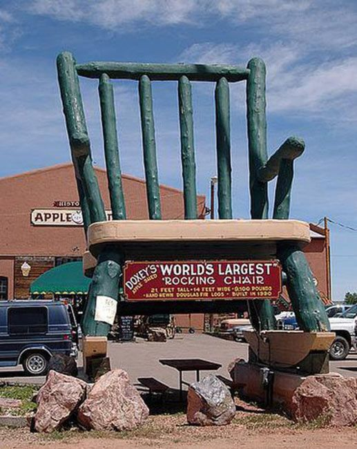 Amazing Former Worlds Largest Rocking Chair Doxeys Apple Shed Gmtry Best Dining Table And Chair Ideas Images Gmtryco