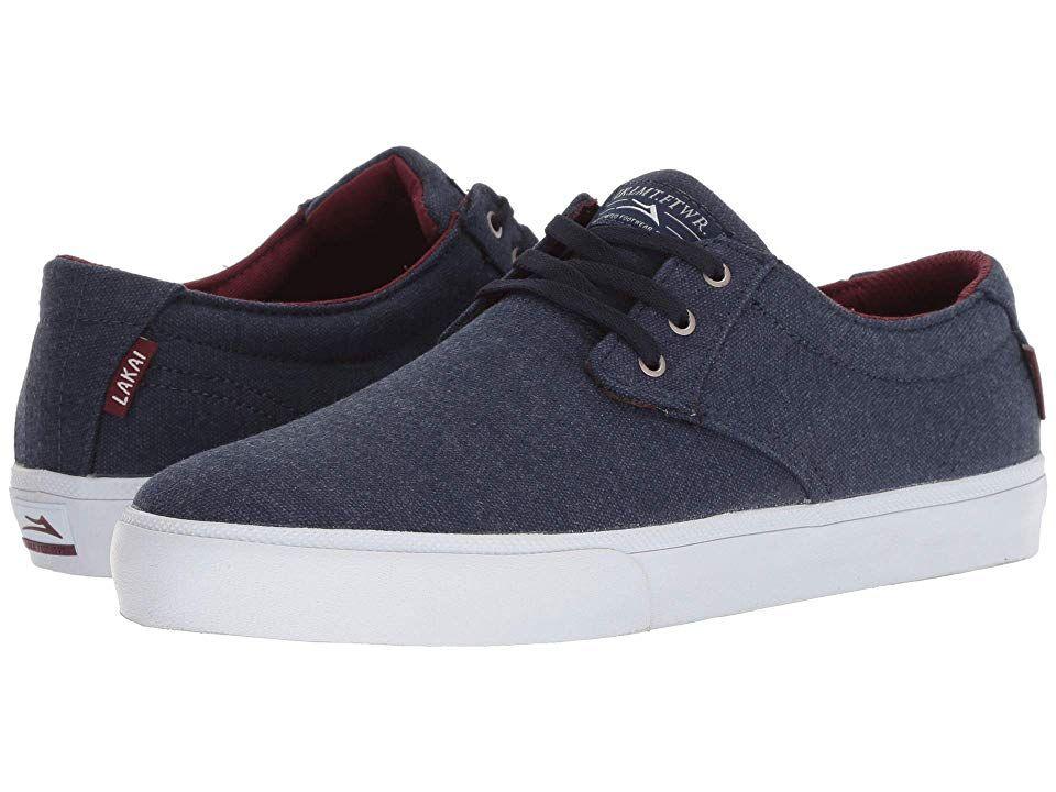 Lakai Daly Men's Shoes Navy Textile 1