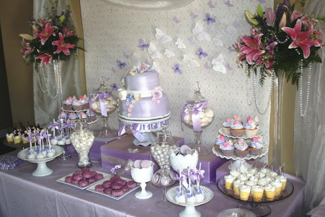 Butterfly Dessert Table From Gabriel And Belle Celebrations Wedding Candy Table Candy Buffet Table Wedding Purple Candy Buffet Wedding