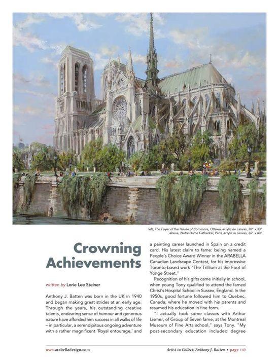 Anthony J Batten Artist To Collect In Arabella Canadian Art Architecture Design Magazine Canadian Art Magazine Design Art And Architecture