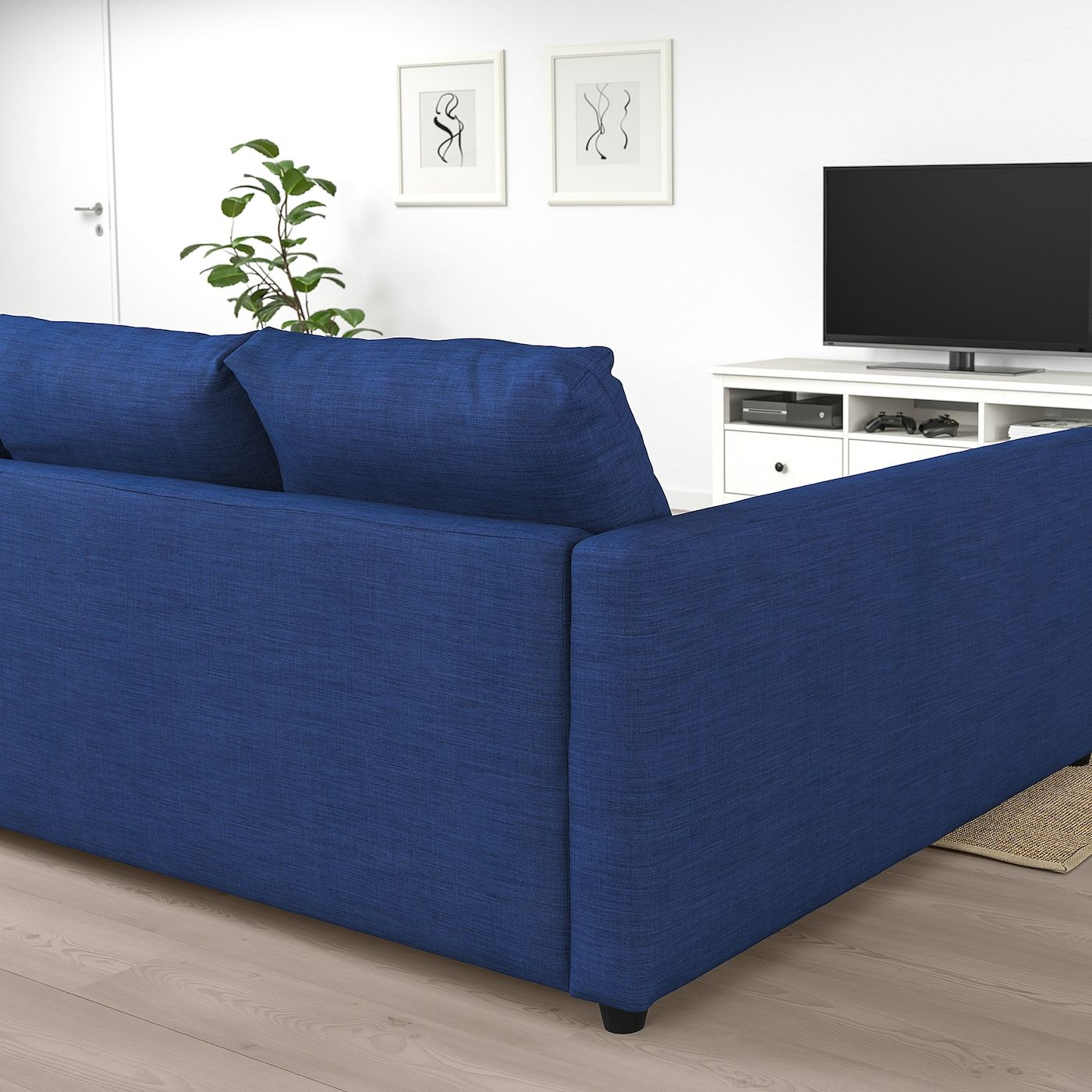 Friheten Sleeper Sectional 3 Seat W Storage Skiftebo Blue In 2020 With Images Corner Sofa Bed With Storage Corner Sofa Bed Tiny Living Room Apartment