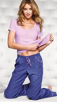 Women's Pajamas: Flannel, Cotton, Silk, Cami Pajamas & Boyshort Sets at Victoria's Secret