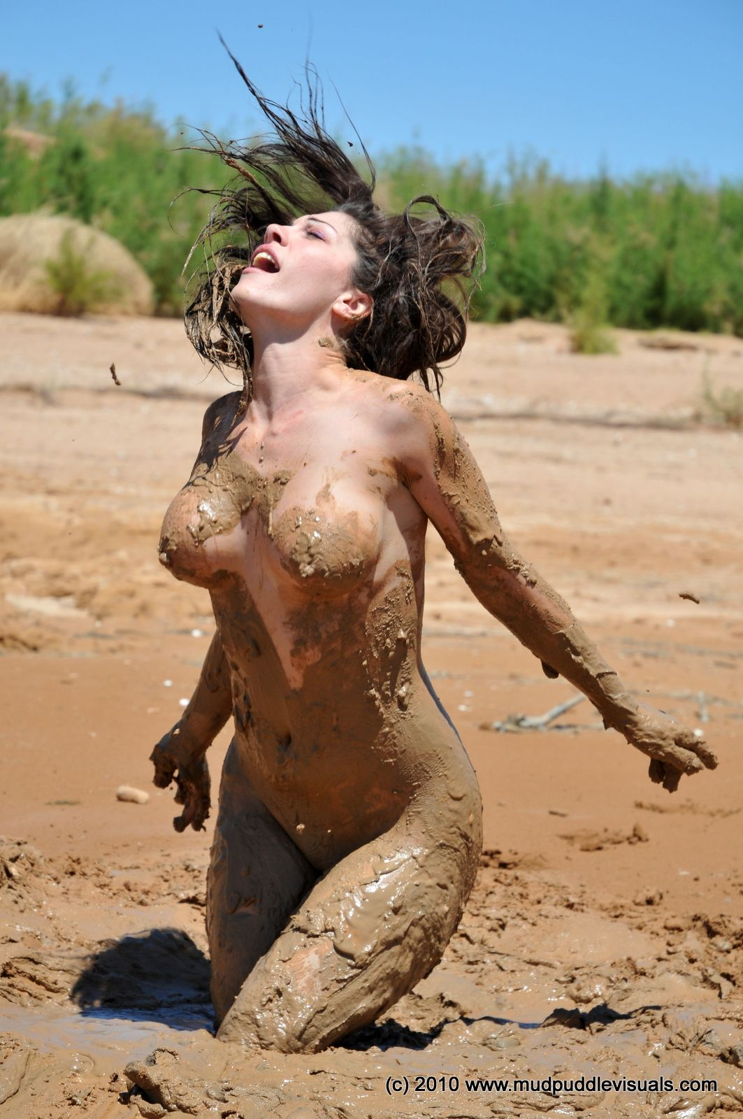 Are not Fat naked girls mud fighting theme