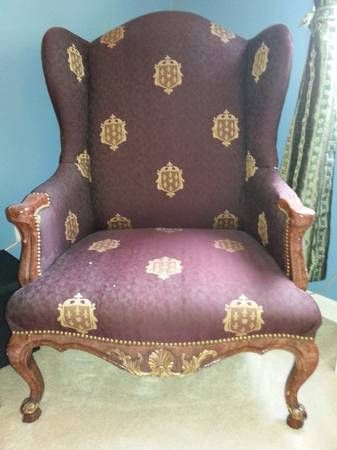 Superb Vintage High Backed Chairs...Two Of A Kind!   $300 (