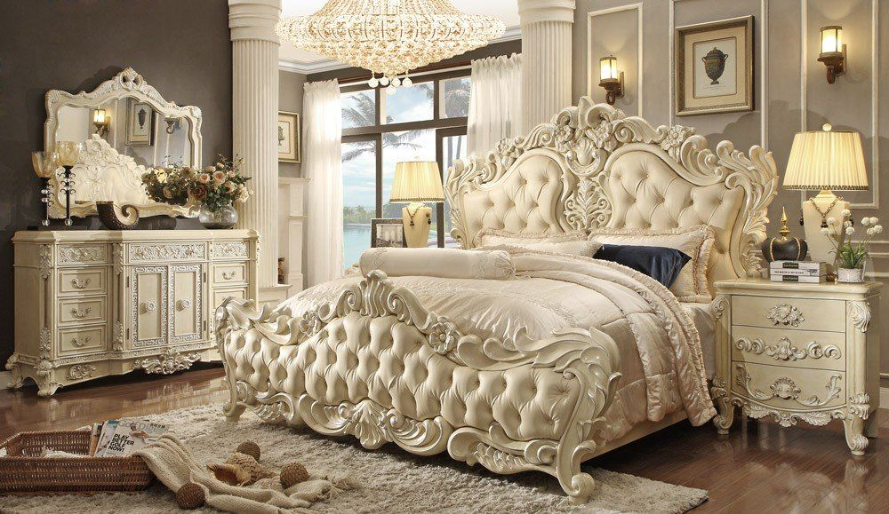 Eskada Victorian Style Bed Collection King Bedroom Sets